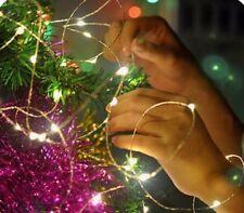 50 oder 100 LED-Lichterkette Batteriebetrieb Weihnachten Dekoration Deko