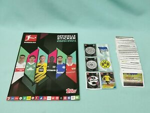 Topps Bundesliga Sticker 2020/2021 komplett Set alle 410 Sticker   20/21