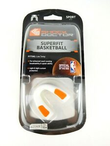 Shock Doctor Superfit Adult Basketball Mouth Guard White Age 11+