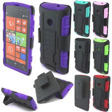 For Nokia Lumia 521 Future Armor Impact Hybrid Kickstand Holster Case Cover