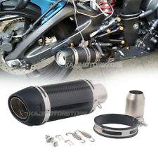 310mm Universal Modified Motorcycle 51mm Carbon Fiber Exhaust Tail Muffler Pipe