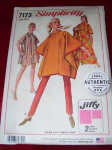 🌺SIMPLICITY #7173-LADIES CIRCA 1967 ~ JIFFY ~ PONCHO or BURNOOSE PATTERN OZ  FF