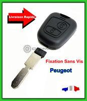Coque Télécommande Plip Bouton Clé Pour Peugeot 306 406 806 + Lame SANS VIS