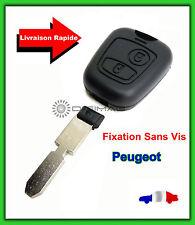 Coque Télécommande Plip Bouton Clé Peugeot 306 406 806 + Lame vierge SANS VIS