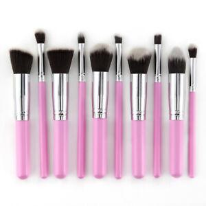 10X Makeup Brushes Set Kabuki Style Foundation Professional Contour Face Powder