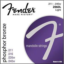 Bronce fosforoso Fender 2060L Mandolina Cuerdas .011 - .040w