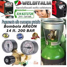 BOMBOLA RICARICAB. 14 LT. 200 BAR ARGON SALDATRICE FILO E TIG RIDUTTORE 2 MANOM.