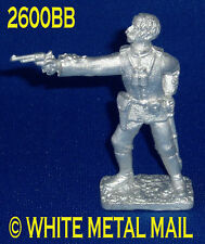 Military Lead Casting LA2600BB 24th Foot British Officer Standing Firing