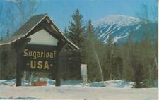 """Ski Poster """" Gondola Sign with Trails in Background"""" Sugarloaf USA Kingfield ME"""