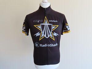 Bontrager Cycling Jersey (Large) Radioshack Nissan Trek Sponsors, Black & Yellow