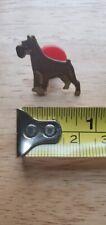 Schnauzer Dog lapel pin hat tie vintage Standard Giant Mini Minature