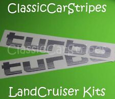 LandCruiser Turbo 100 Series SILVER Decal Sticker toyota