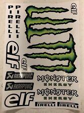 Kit Adesivi Monster Energy Team Kawasaki - Elf - Akrapovic - Pirelli