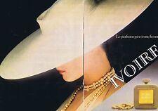 PUBLICITE ADVERTISING 045 1979 BALMAIN 'Ivoire' parfum (2 pages)