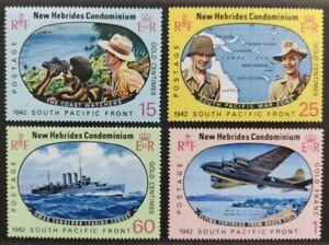 New Hebrides 1967, set of 4x mint big  stamps mnh