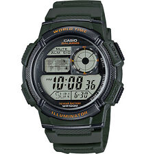 Casio AE1000W-3AV, Chronograph Watch, 5 Alarms, 10 Year Battery, 100 Meter WR