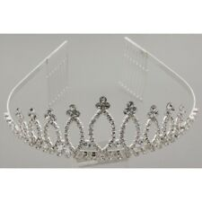 GORGEOUS TIARA - BEAUTIFULLY DESIGNED IN CLEAR RHINESTONES ON DOUBLE COMBS