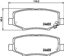 Mintex Rear Brake Pad Set MDB3011  - BRAND NEW - GENUINE - 5 YEAR WARRANTY