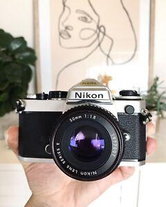 Nikon FE  + 50mm f1.8 pancake lens film analogue  excellent condition