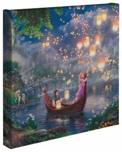Thomas Kinkade Disney's Tangled 14 x 14 Canvas Wrap