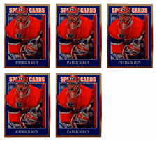 (5) 1992 Sports Cards #68 Patrick Roy Hockey Card Lot Montreal Canadiens