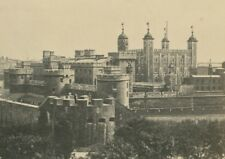 England Tower of London General View old Anonymous CDV Photo 1860's