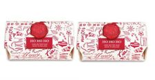 2 MICHEL DESIGN WORKS HO HO HO BAR BATH SOAP 8.7 OZ EA PEPPERMINT VANILLA