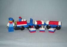 NEW LEGO MINI RED, WHITE, & BLUE TRAIN,ENGINEER MINIFIGURE, & 3 BIRTHDAY GIFTS