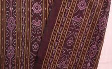 Burgundy Ikat Cotton  Hand-Dyed & Hand-Woven Fabric Orissa Odisha Homespun
