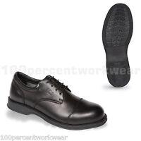 V12 Safety VC101 Envoy Mens Formal Oxford Work Shoes Black Leather Steel Toe Cap