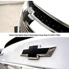 Carbon Fiber Bowtie Grille & Trunk Emblem Cover Wrap For CHEYV CRUZE