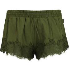 Puma Rihanna Fenty Womens Lace Trim Sleepwear Shorts Olive Branch 574302 02 R9A