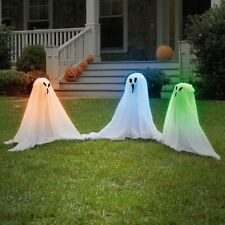 "Ghostly 15"" Light-Up Ghosts Halloween Lawn Decoration 