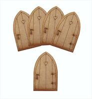 Wooden Fairy Door Craft Shapes Pack of 5 Mini Wooden Fairy Cottage Fairy Doors