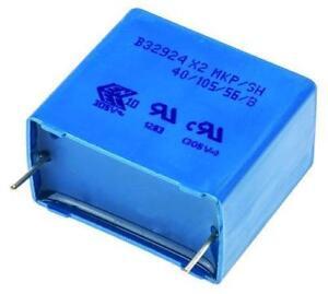 4 x Epcos B32924 3.3uF Polypropylene Film Capacitor 305V AC ±20% X2 Class RFI