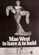 MAE WEST 1970 Poster Ad THE ORIGINAL VOICE TRACKS FROM HER GREATEST MOVIES