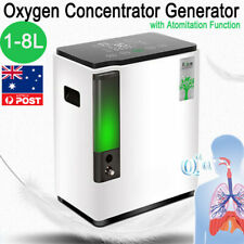 1-8L/min O2-Concentrator Machine-OXYGEN-Generator Humidifiers & Anion Home Care