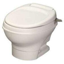 Thetford 31647 RV Aqua-Magic V Low Profile One Handle Flush Toilet Parchment