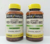 PACK 2 X 120 = 240 CAPSULES RED YEAST RICE 1200 mg /2 ca lower cholesterol NEW