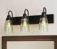 Mason Jars new 3 arm wall vanity light / nice