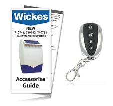 Wickes Alarms 710745 Premium Executive Remote Control Key Fob 433MHz (INC GUIDE)