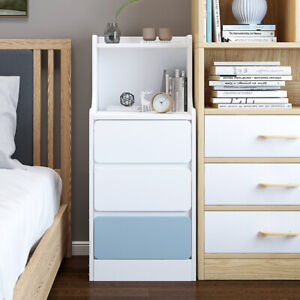 Corner Thin Small Bedside Table Side End Hall Sofa Side Living Room with Drawers