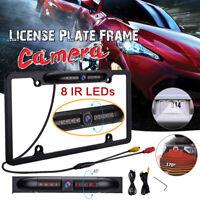 12V Car Rear View Backup Camera 8 IR Night Vision US License Plate Frame CMOS US