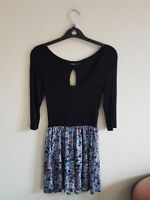 Dunnes Dress Size 8 Black and Blue