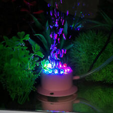 Submersible Light Pond 12 LED Air Stone Pump Aquarium Tank RGB Bubble Light
