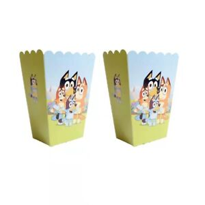 BLUEY DOG POPCORN BOX 6 PACK BOXES HAPPY BIRTHDAY PARTY LOLLY LOOT BAG