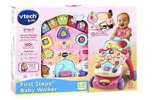 First Steps Walker Baby Walk Push Along Toddler Walkers Stroller Girl Vtech