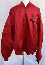 Vintage Snap-On Tools Red Satin Horizon Front Button Jacket Size XXL