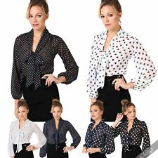 Spotted Blouse Plus Size for Women