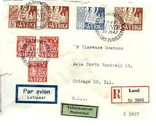Sweden Stamps Cover 1St Day? Complete Set, 1946 , Some Damage, Look!